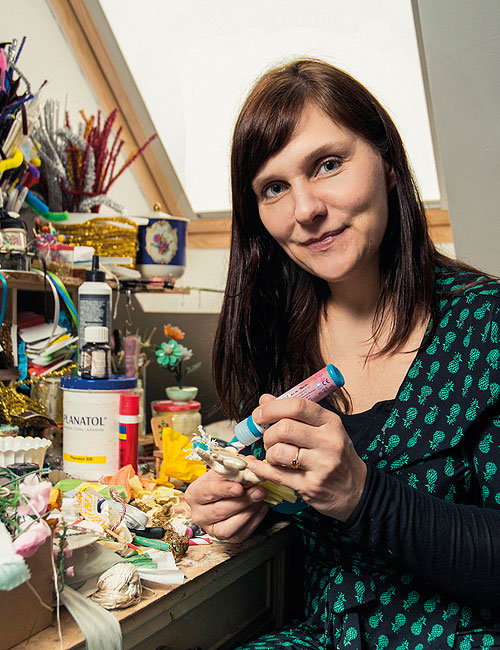 Manuela Olten im Atelier