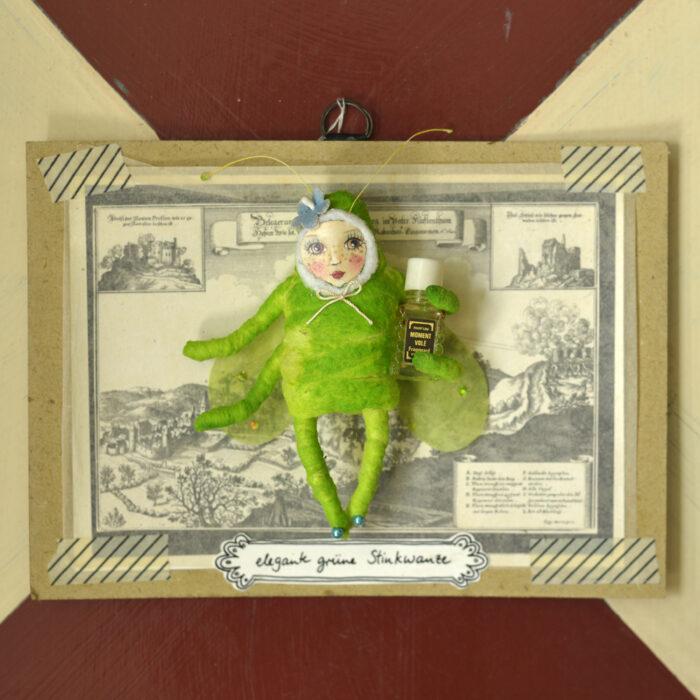 elegante grüne Stinkwanze